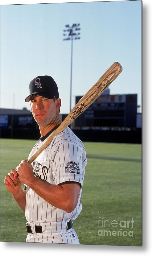 Media Day Metal Print featuring the photograph Todd Helton 17 by Brian Bahr