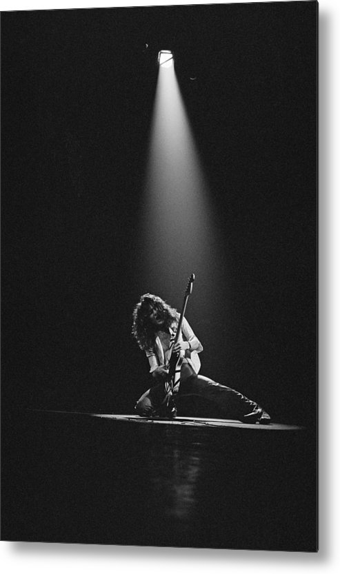 1980-1989 Metal Print featuring the photograph Van Halen Live At The Rainbow by Fin Costello
