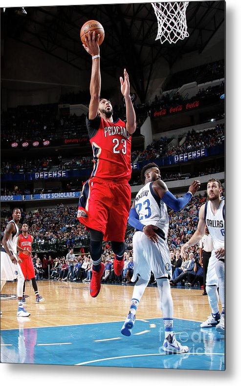 Nba Pro Basketball Metal Print featuring the photograph Anthony Davis by Glenn James