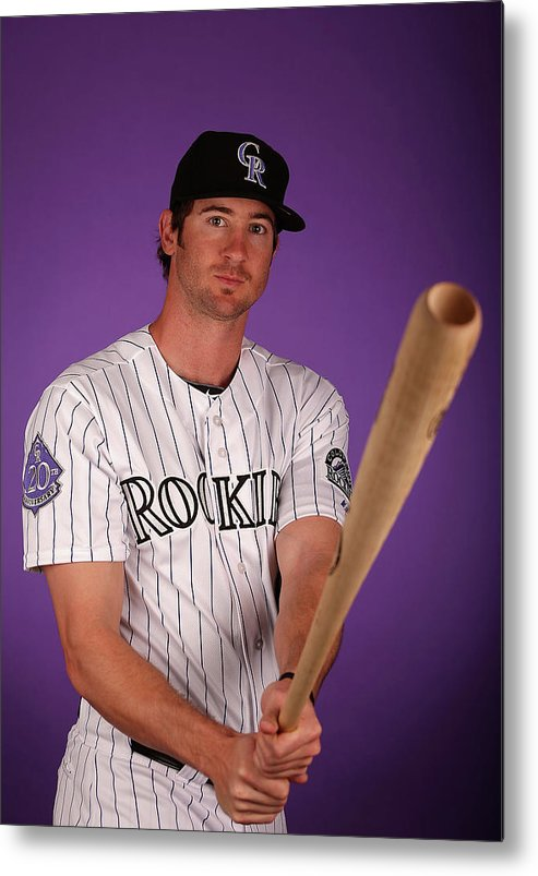 Media Day Metal Print featuring the photograph Charlie Blackmon by Christian Petersen