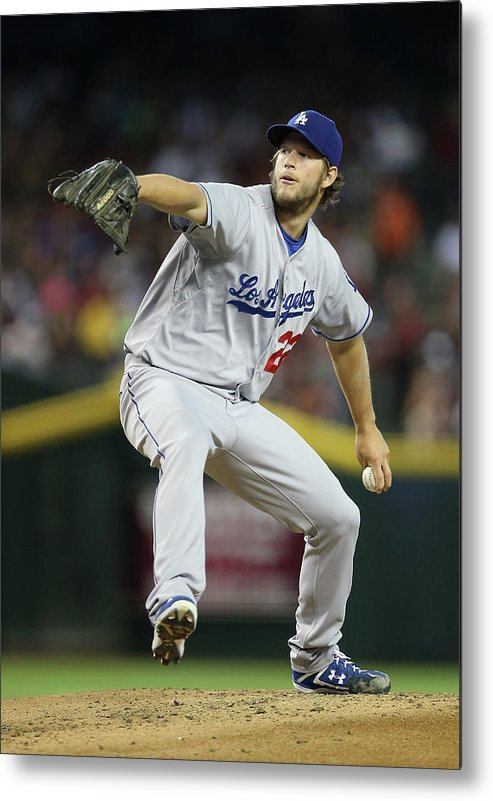 People Metal Print featuring the photograph Clayton Kershaw by Christian Petersen