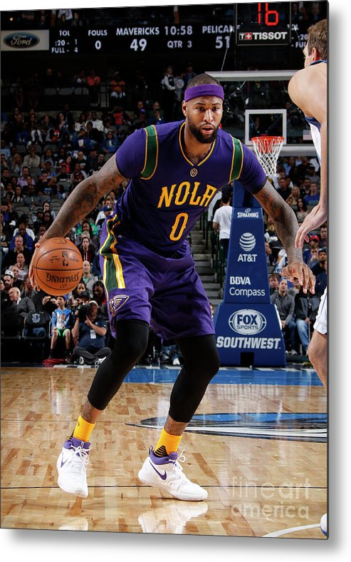 Nba Pro Basketball Metal Print featuring the photograph Demarcus Cousins by Glenn James