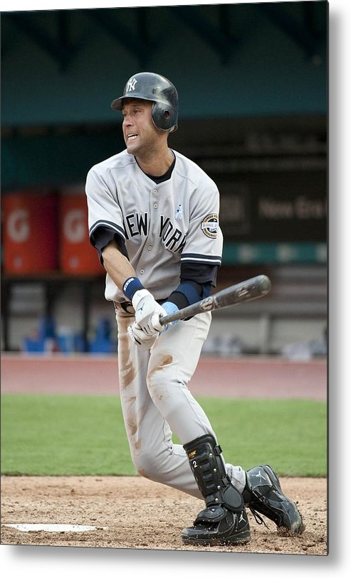 People Metal Print featuring the photograph Derek Jeter by Ronald C. Modra/sports Imagery