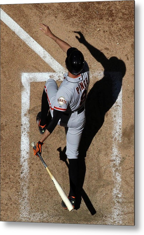 National League Baseball Metal Print featuring the photograph Hunter Pence by Christian Petersen
