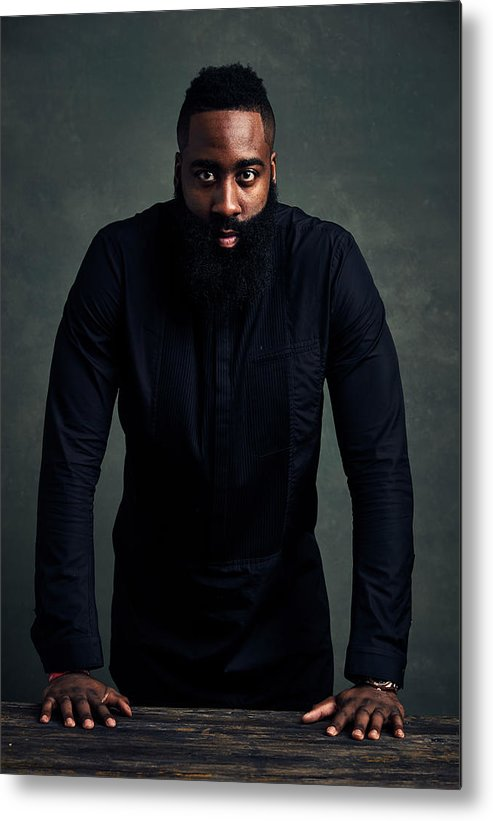 Event Metal Print featuring the photograph James Harden by Jennifer Pottheiser