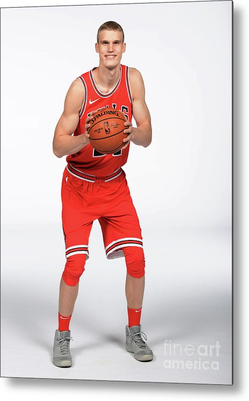 Media Day Metal Print featuring the photograph Lauri Markkanen by Randy Belice