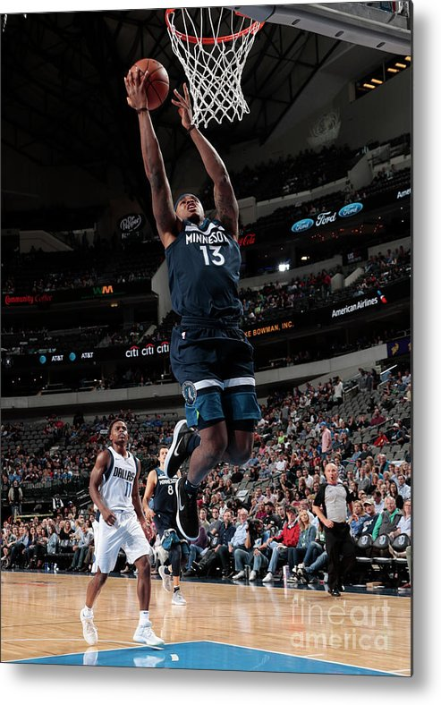 Nba Pro Basketball Metal Print featuring the photograph Marcus Georges-hunt by Glenn James