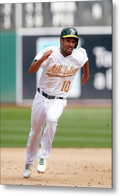 People Metal Print featuring the photograph Marcus Semien by Ezra Shaw