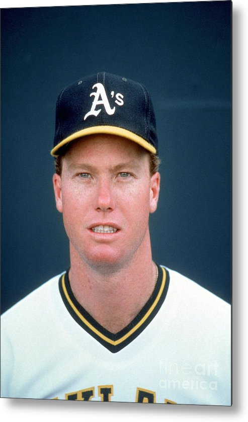 1980-1989 Metal Print featuring the photograph Mark Mcgwire by Michael Zagaris