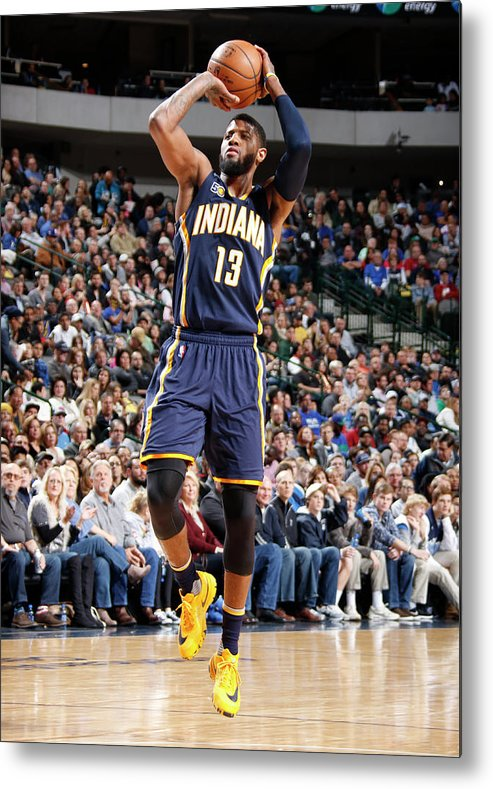 Nba Pro Basketball Metal Print featuring the photograph Paul George by Danny Bollinger