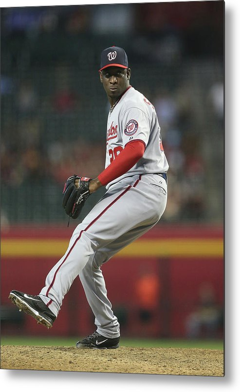 Relief Pitcher Metal Print featuring the photograph Rafael Soriano by Christian Petersen