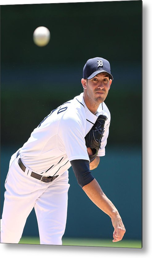 American League Baseball Metal Print featuring the photograph Rick Porcello by Leon Halip