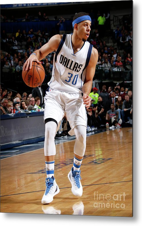 Nba Pro Basketball Metal Print featuring the photograph Seth Curry by Glenn James