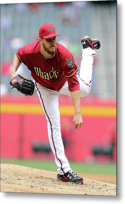 Baseball Pitcher Metal Print featuring the photograph Wade Miley by Christian Petersen