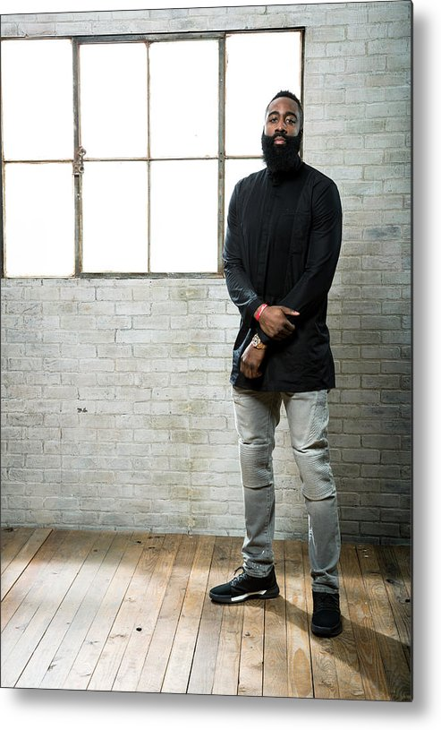 Nba Pro Basketball Metal Print featuring the photograph James Harden by Nathaniel S. Butler