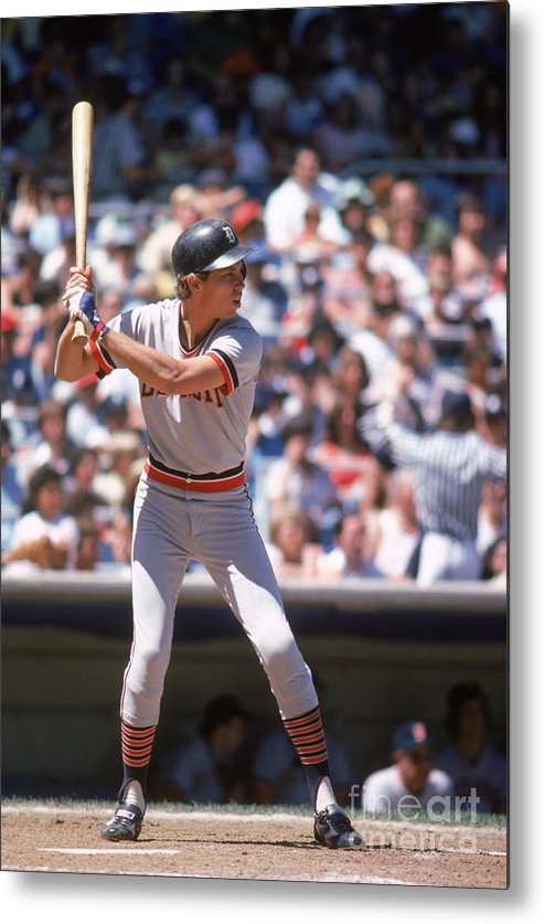 American League Baseball Metal Print featuring the photograph Alan Trammell by Rich Pilling