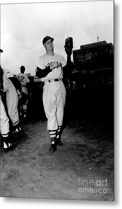 People Metal Print featuring the photograph Bobby Doerr by Kidwiler Collection