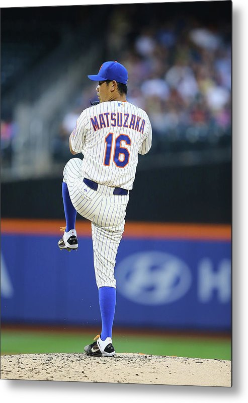 American League Baseball Metal Print featuring the photograph Daisuke Matsuzaka by Al Bello