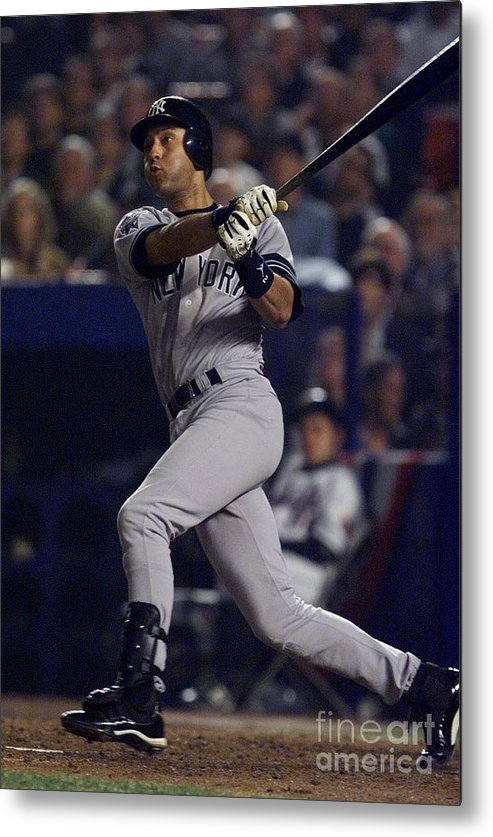 People Metal Print featuring the photograph Derek Jeter by Jed Jacobsohn