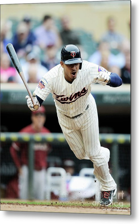 Second Inning Metal Print featuring the photograph Eduardo Escobar by Hannah Foslien