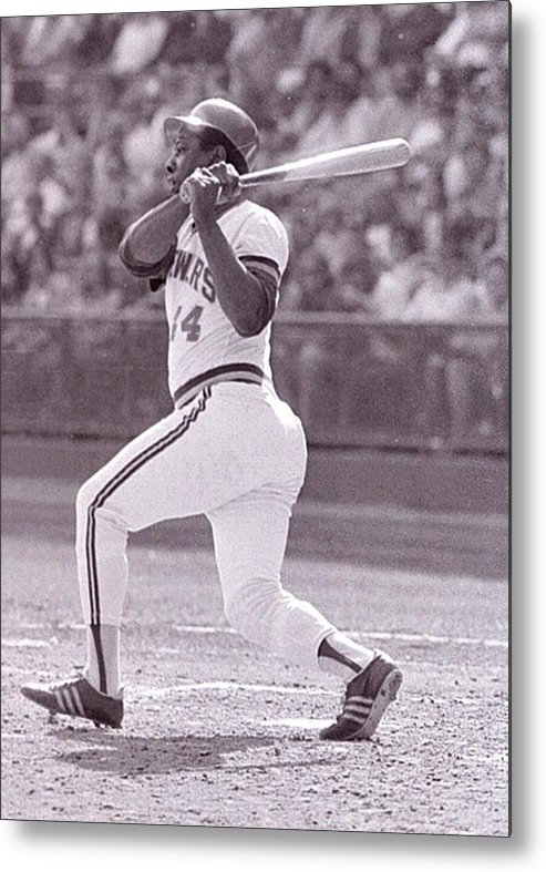 American League Baseball Metal Print featuring the photograph Hank Aaron by Ronald C. Modra/sports Imagery
