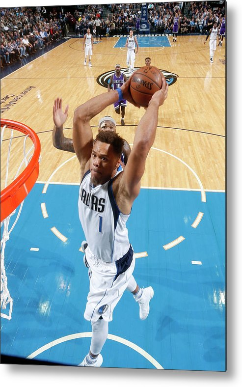 Nba Pro Basketball Metal Print featuring the photograph Justin Anderson by Glenn James