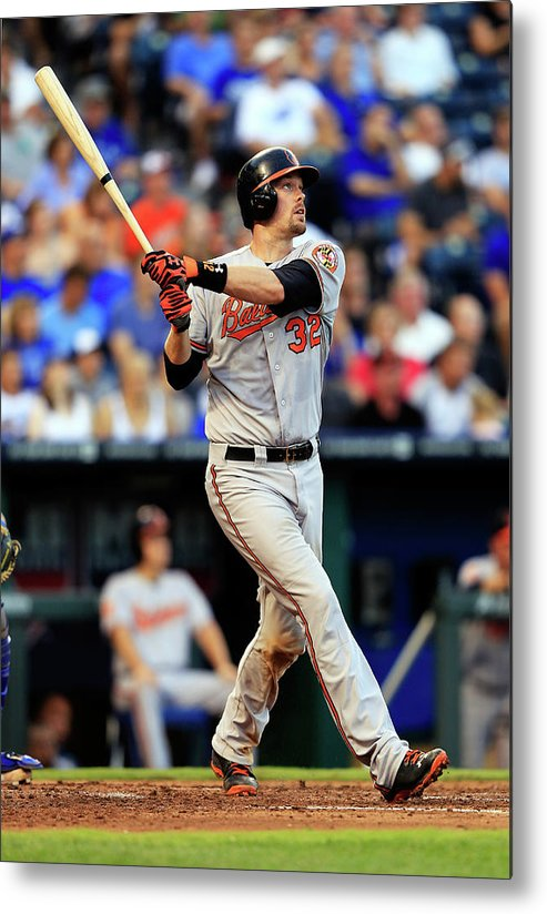 American League Baseball Metal Print featuring the photograph Matt Wieters by Jamie Squire