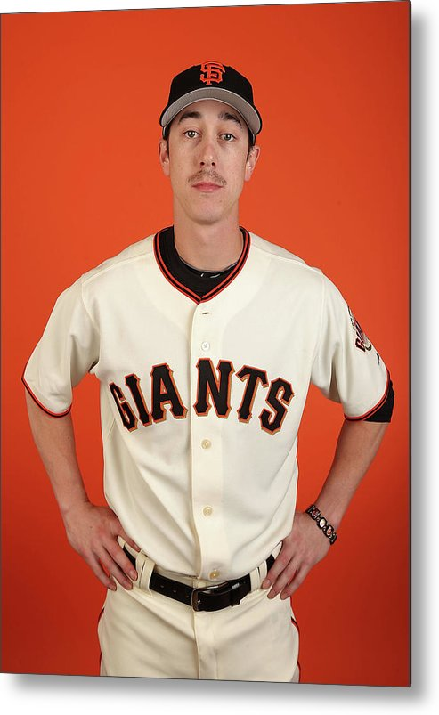 Media Day Metal Print featuring the photograph Tim Lincecum by Christian Petersen