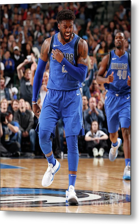 Nba Pro Basketball Metal Print featuring the photograph Wesley Matthews by Glenn James