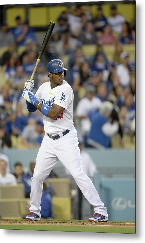 California Metal Print featuring the photograph Yasiel Puig by Harry How