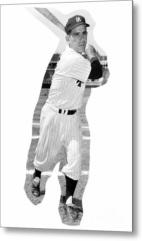 People Metal Print featuring the photograph Yogi Berra by Kidwiler Collection