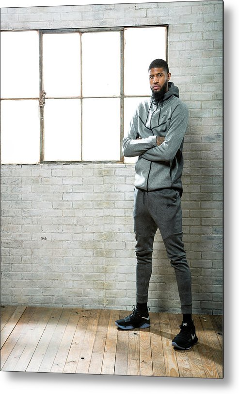 Nba Pro Basketball Metal Print featuring the photograph Paul George by Nathaniel S. Butler