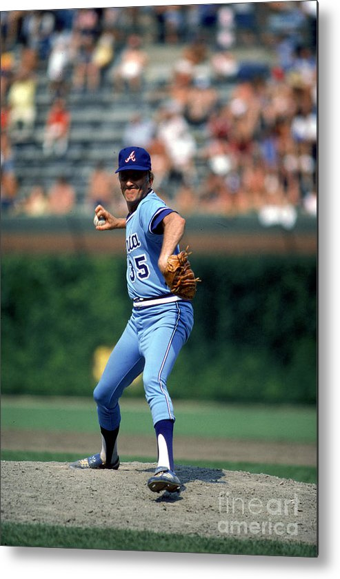 1980-1989 Metal Print featuring the photograph Phil Niekro by Rich Pilling