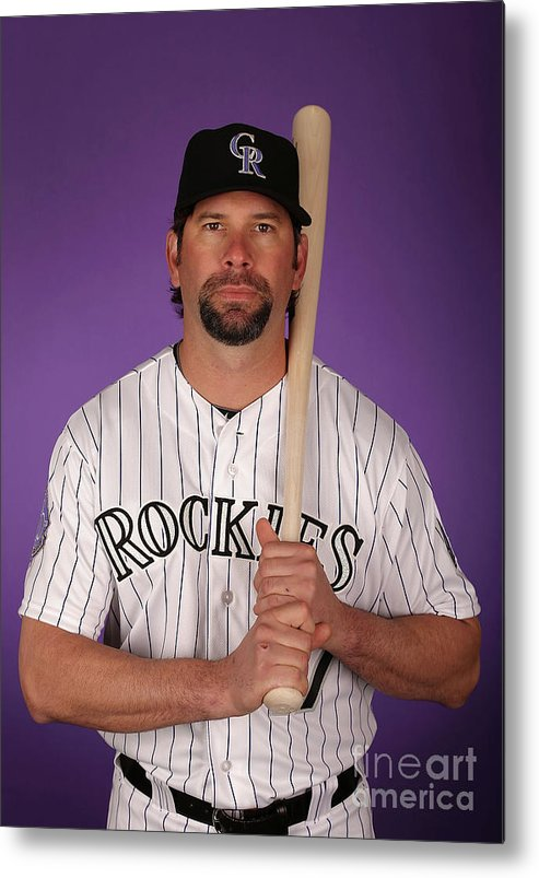 Media Day Metal Print featuring the photograph Todd Helton by Christian Petersen
