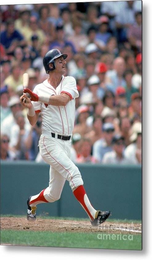 American League Baseball Metal Print featuring the photograph Carl Yastrzemski by Rich Pilling