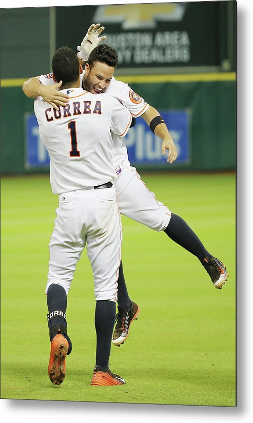 People Metal Print featuring the photograph Carlos Correa by Scott Halleran