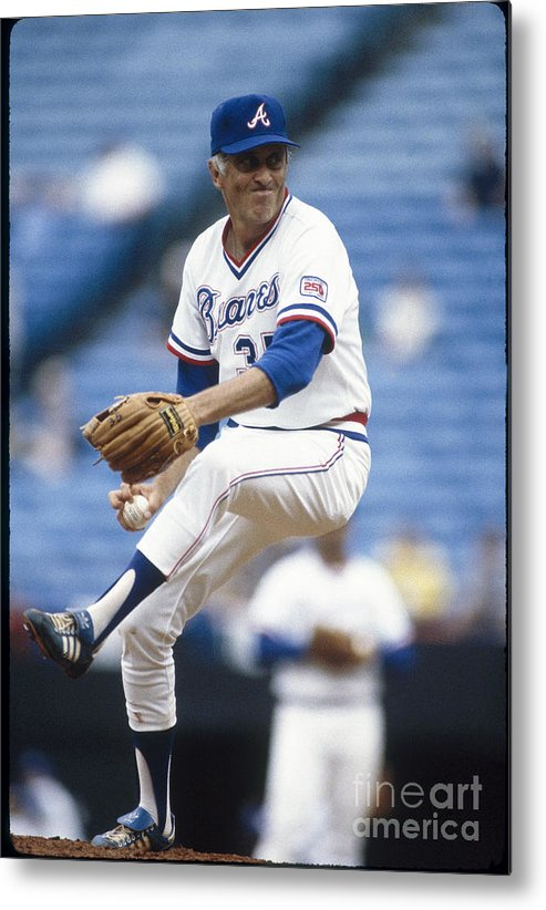 Atlanta Metal Print featuring the photograph Phil Niekro by Rich Pilling