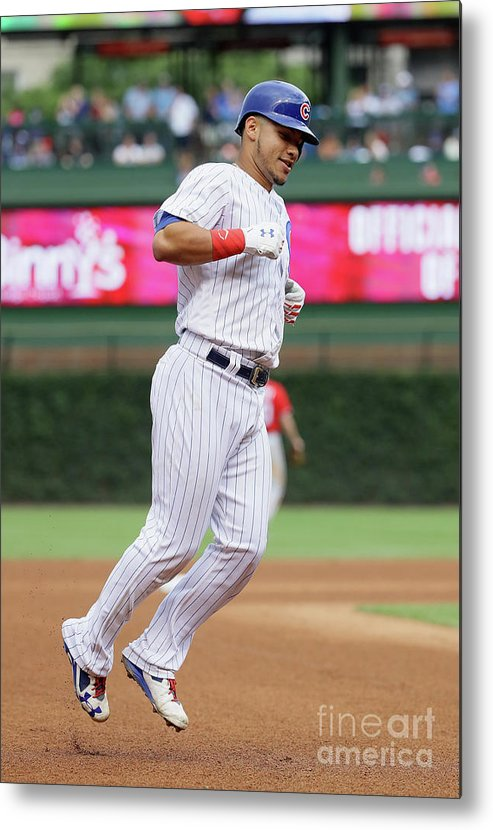 People Metal Print featuring the photograph Willson Contreras by Jonathan Daniel