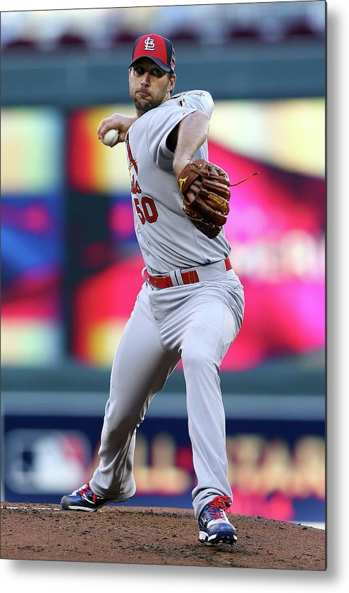 St. Louis Cardinals Metal Print featuring the photograph Adam Wainwright by Elsa