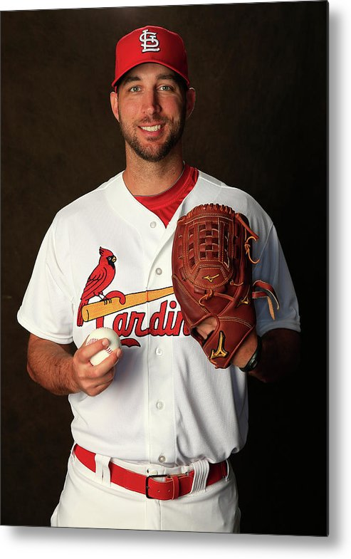 Media Day Metal Print featuring the photograph Adam Wainwright by Rob Carr