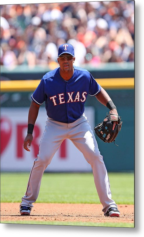 Adrian Beltre Metal Print featuring the photograph Adrian Beltre by Leon Halip