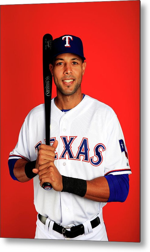 Media Day Metal Print featuring the photograph Alex Rios by Jamie Squire