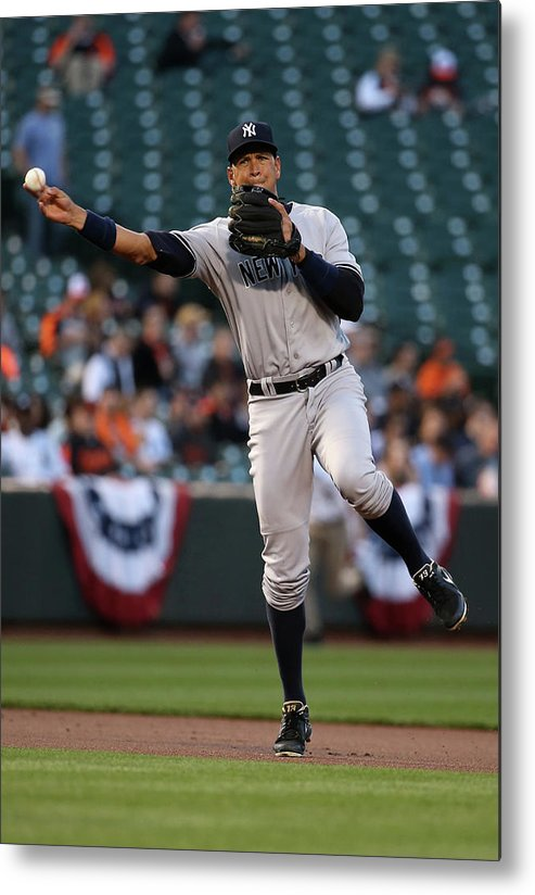 People Metal Print featuring the photograph Alex Rodriguez by Rob Carr