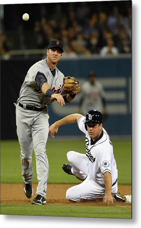 Andrew Romine Metal Print featuring the photograph Andrew Romine and Seth Smith by Denis Poroy