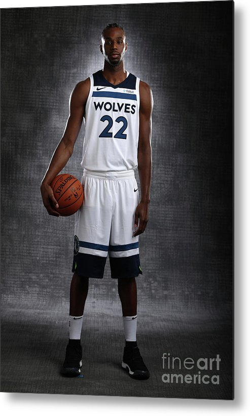 Media Day Metal Print featuring the photograph Andrew Wiggins by David Sherman