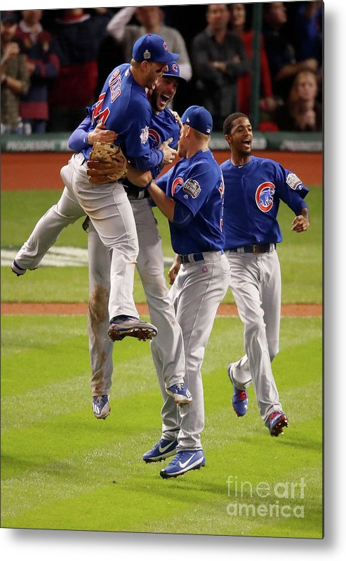 People Metal Print featuring the photograph Anthony Rizzo and Kris Bryant by Gregory Shamus