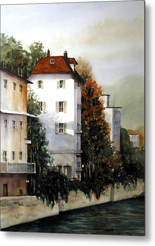 Rhine Metal Print featuring the painting Banks Of The Rhine by Charles Rowland