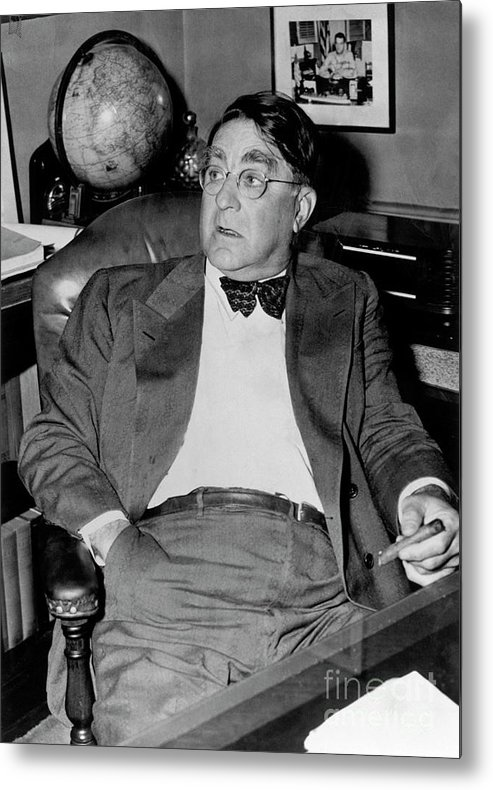 1910-1919 Metal Print featuring the photograph Branch Rickey by National Baseball Hall Of Fame Library