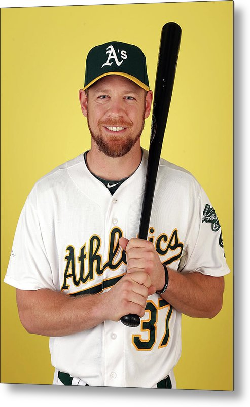Media Day Metal Print featuring the photograph Brandon Moss by Christian Petersen