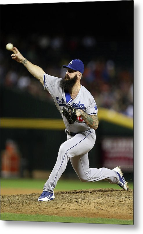 Relief Pitcher Metal Print featuring the photograph Brian Wilson by Christian Petersen